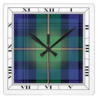 Gordon Clan Tartan Wall Clock