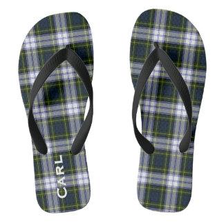 Gordon Dress Plaid Personalized Flip Flops