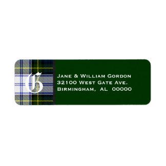 Gordon Dress Tartan Plaid Monogram Address Labels