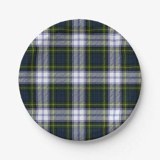 Gordon Dress Tartan Plaid Paper Plate