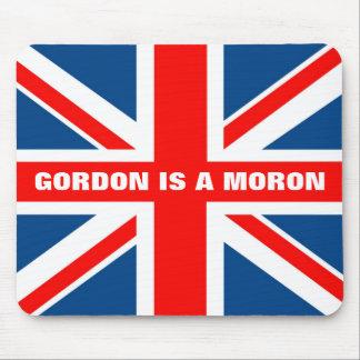 Gordon es un Imbécil Union Jack Alfombrillas De Raton