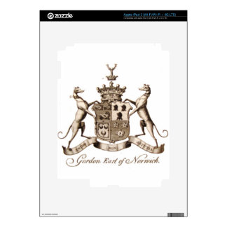 GORDON FAMILY CREST iPad 3 DECAL