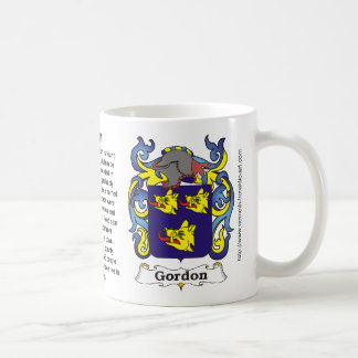 Gordon Family Crest on a mug