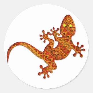 Gordon Gecko Classic Round Sticker