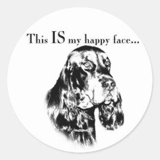 Gordon Happy Face Classic Round Sticker