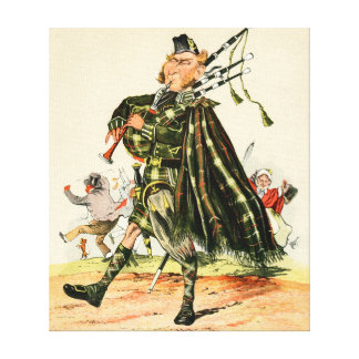 Gordon Highlanders - Piper Stretched Canvas Prints