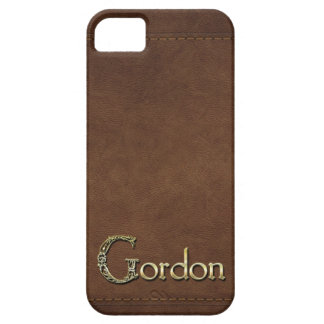 GORDON Leather-look Customised Phone Case