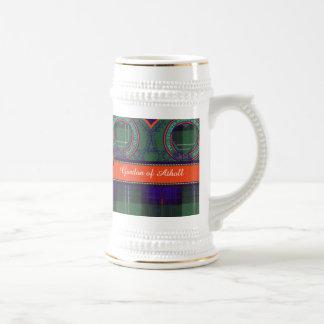 Gordon of Atholl clan Plaid Scottish kilt tartan Beer Stein