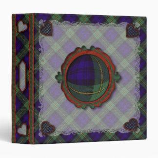 Gordon Scottish clan tartan 1.5 inch spine Binder