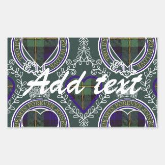 Gordon Scottish tartan Rectangular Sticker
