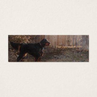 Gordon Setter Bookmark Business Cards