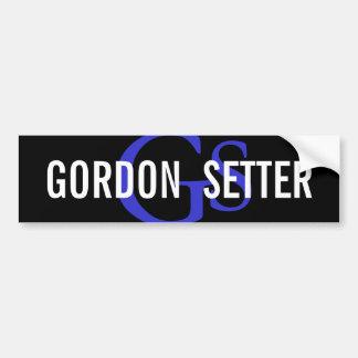 Gordon Setter Breed Monogram Bumper Sticker