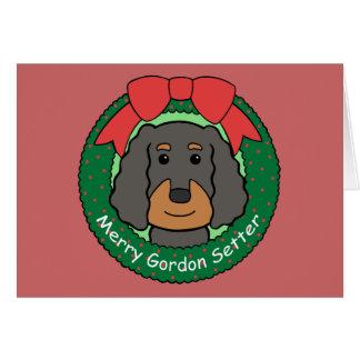 Gordon Setter Christmas Card