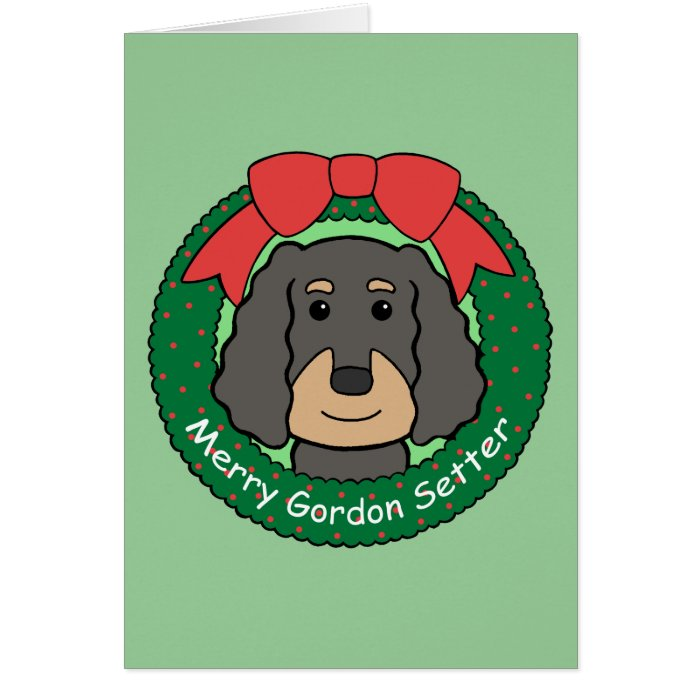 Gordon Setter Christmas Card