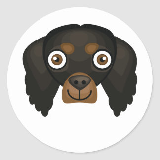 Gordon Setter Dog Breed - My Dog Oasis Classic Round Sticker
