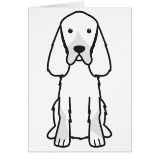 Gordon Setter Dog Cartoon Card