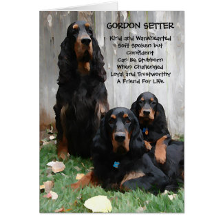 Gordon Setter Generations Painting Note Card