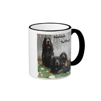 Gordon Setter Generations Painting on a Mug
