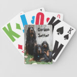Gordon Setter Generations Painting Playing Cards