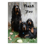 Gordon Setter Generations Painting Thank You Note Card