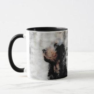 Gordon Setter Grunge Ceramic Mug
