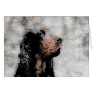 Gordon Setter Grunge Note Card