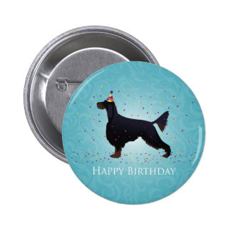 Gordon Setter Happy Birthday Design Pinback Button
