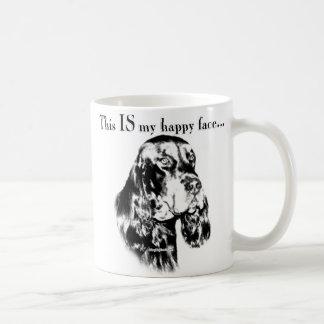 Gordon Setter Happy Face Classic White Coffee Mug