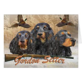 Gordon Setter Hunting Pheasant Card