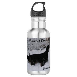 Gordon Setter in a Snowstorm Liberty 18oz Water Bottle