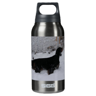 Gordon Setter in a Snowstorm 10 Oz Insulated SIGG Thermos Water Bottle