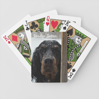 Gordon Setter in Winter Playing Cards