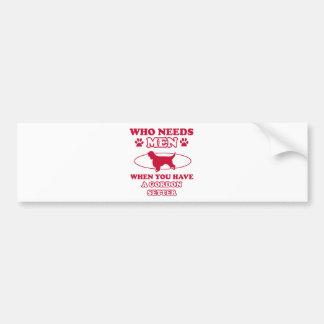 Gordon setter mommy design bumper sticker
