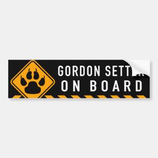 Gordon Setter On Board Bumper Sticker
