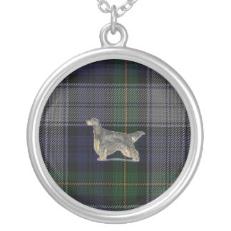 Gordon Setter on Gordon Dress Tartan Necklace