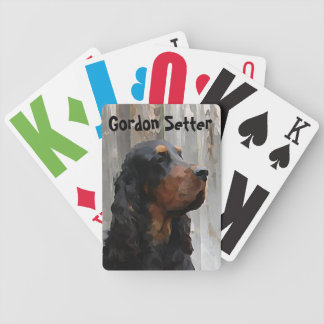 Gordon Setter Painting Playing Cards