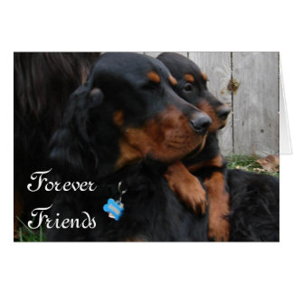 Gordon Setter Pals Friendshp Note Card