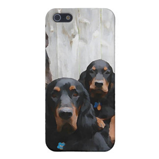 Gordon Setter Pals Painting on an iPhone Case iPhone 5/5S Covers