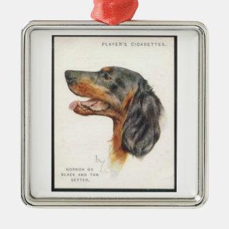 Gordon Setter Player Cigarette Card Ornament