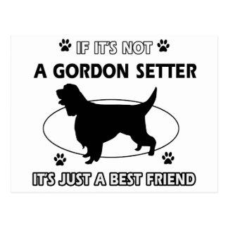 GORDON SETTER.png Tarjeta Postal