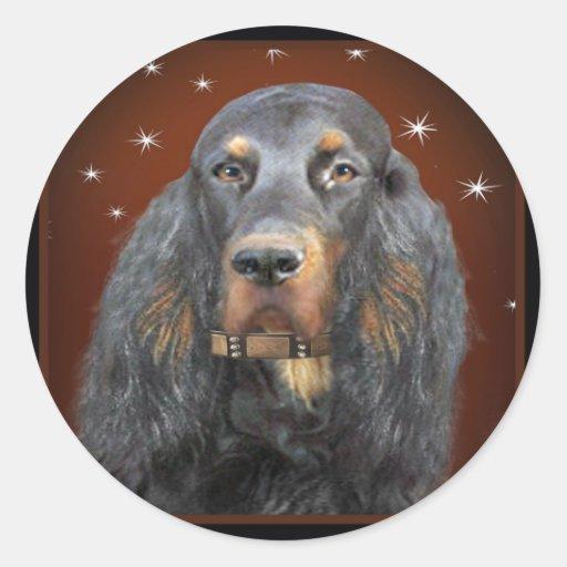 Gordon Setter Portrait gifts Classic Round Sticker