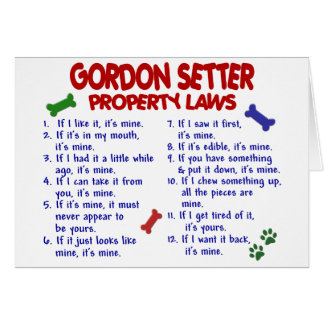 GORDON SETTER Property Laws 2 Card