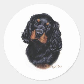 Gordon Setter Pup Classic Round Sticker