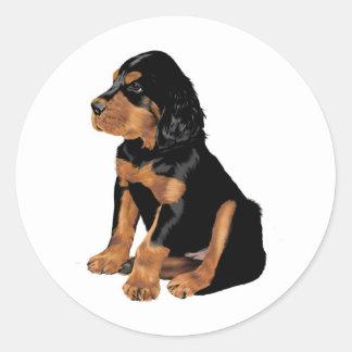 Gordon Setter Puppy Classic Round Sticker