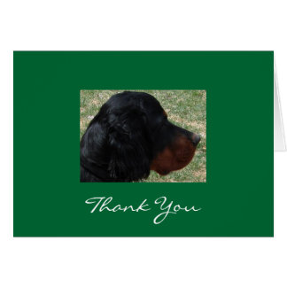 Gordon Setter Puppy Thank You Note Card