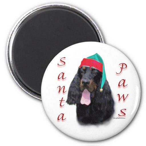 Gordon Setter Santa Paws Fridge Magnet