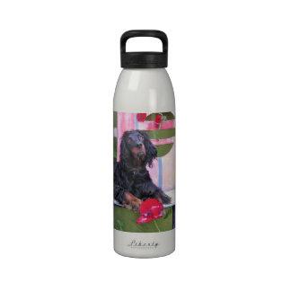 Gordon Setter Shania Reusable Water Bottle