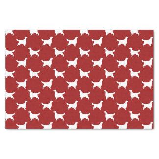 Gordon Setter Silhouettes Pattern Red Tissue Paper