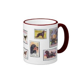 Gordon Setter Stamps of the World Ceramic Mug