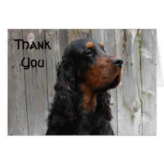 Gordon Setter Thank You Note Card